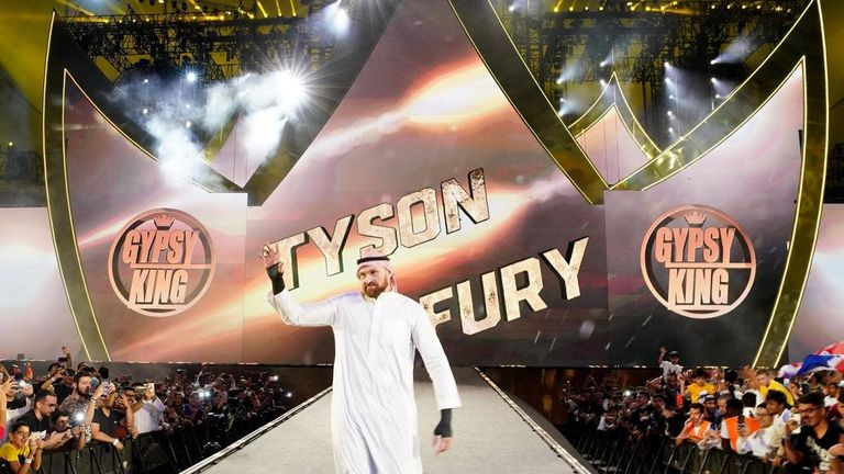 Tyson Fury brought plenty of his trademark showmanship to his time in WWE, making a memorable entrance for his match at Crown Jewel