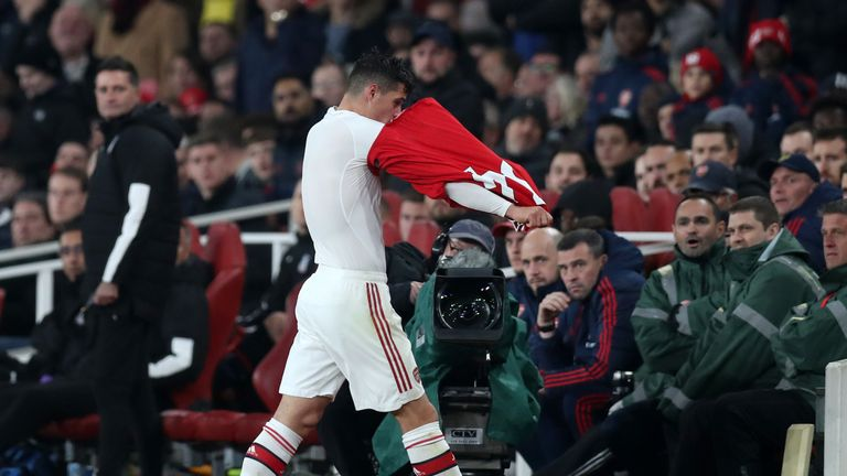 Xhaka faces an anxious wait to learn if he still has an Arsenal future