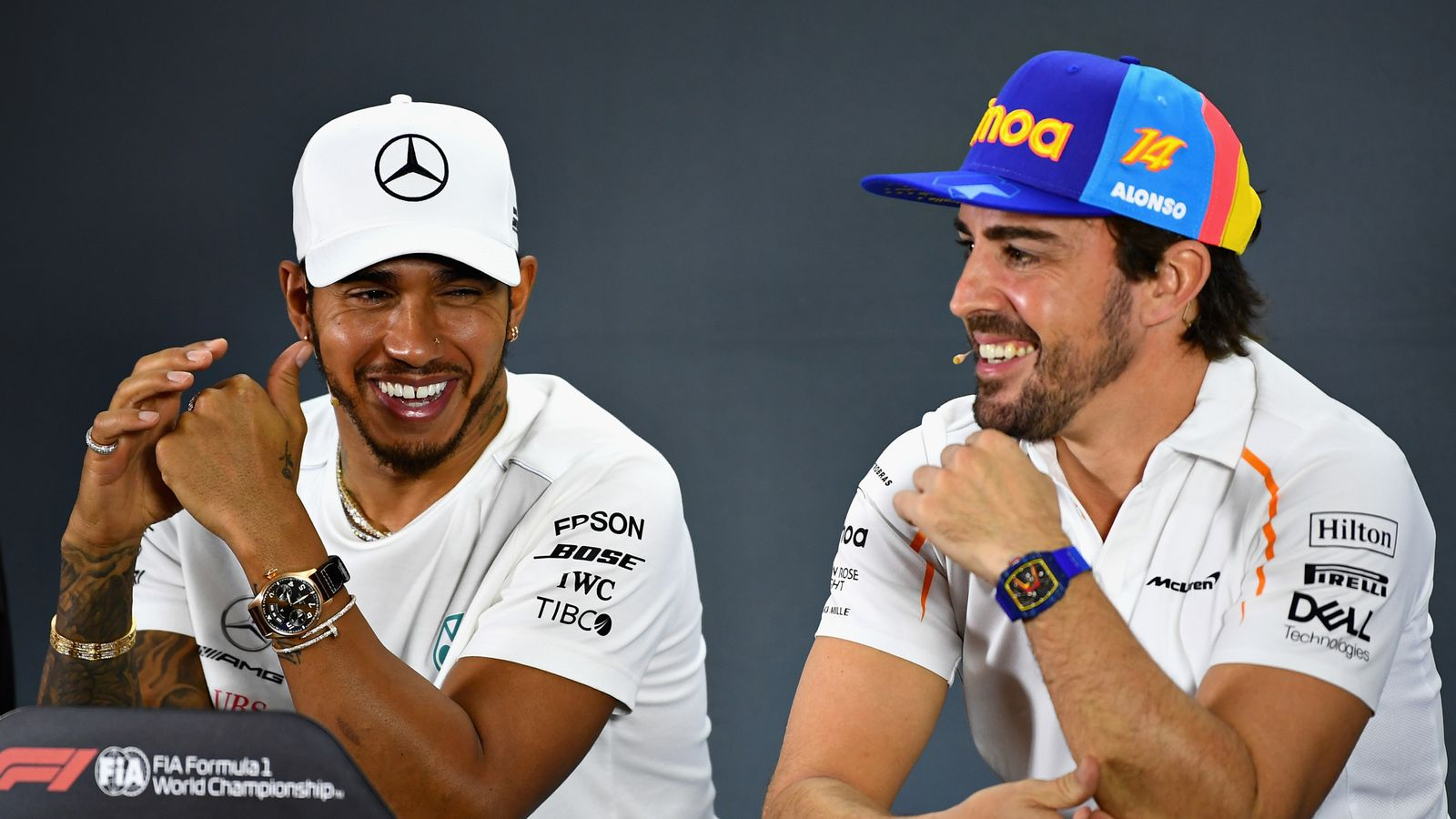 Lewis Hamilton on congratulatory texts from Fernando Alonso and Ron Dennis - Sky Sports
