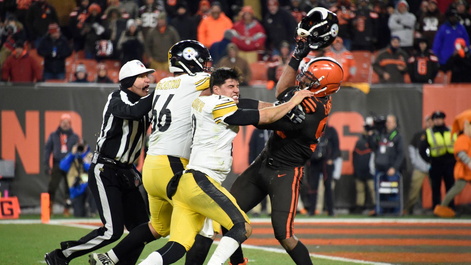 NFL players react to Myles Garrett`s helmet swing...
