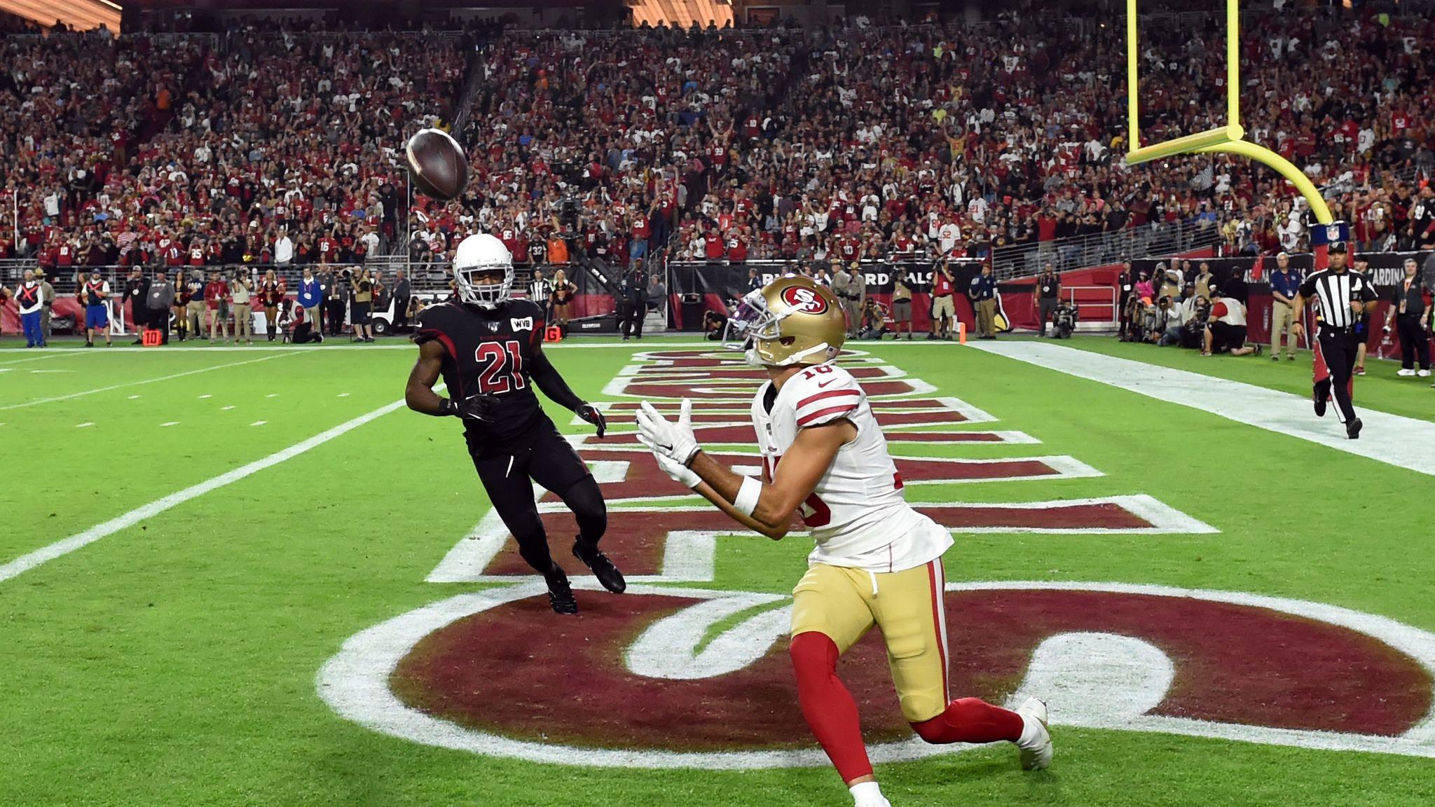 San Francisco 49ers beat Arizona Cardinals 28-25 to stay perfect
