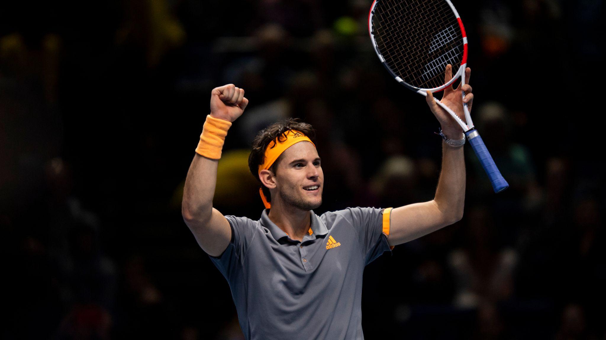 Atp Finals Dominic Thiem Defeats Alexander Zverev To Book Stefanos Tsitsipas Final Tennis News Sky Sports