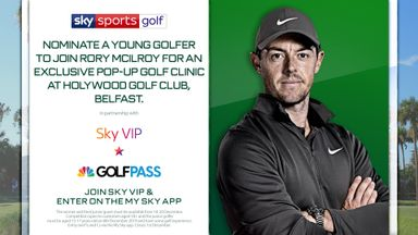 Join Rory McIlroy for an exclusive Pop-Up GOLF clinic