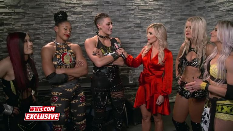 The five women of Team NXT toasted their Survivor Series success and insisted they are the 'main roster' now