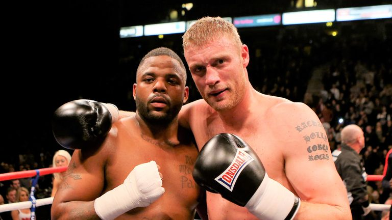 Andrew Flintoff traded in his cricket bat for boxing gloves