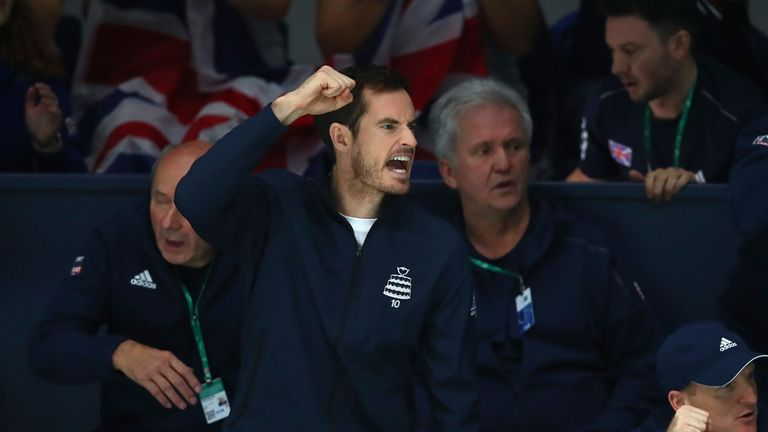 Andy Murray lived every point with his Great Britain team-mate