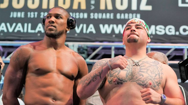 Andy Ruiz Jr was over a stone heavier than Anthony Joshua