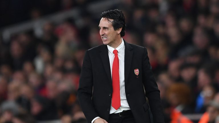 Emery is facing questions over his future at Arsenal