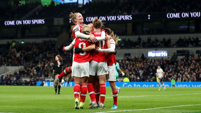 Spurs and Arsenal's women's teams played in front of almost 40,000 last season