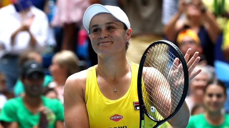 Ashleigh Barty is looking to lead Australia to Fed Cup victory on home soil
