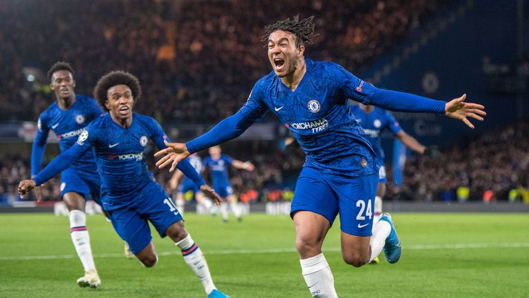Reece James became Chelsea's youngest Champions League goalscorer