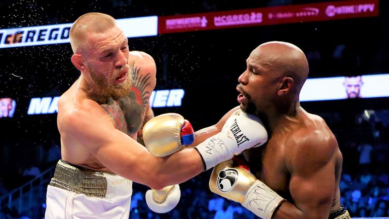 Mayweather stopped Conor McGregor in their huge Las Vegas clash