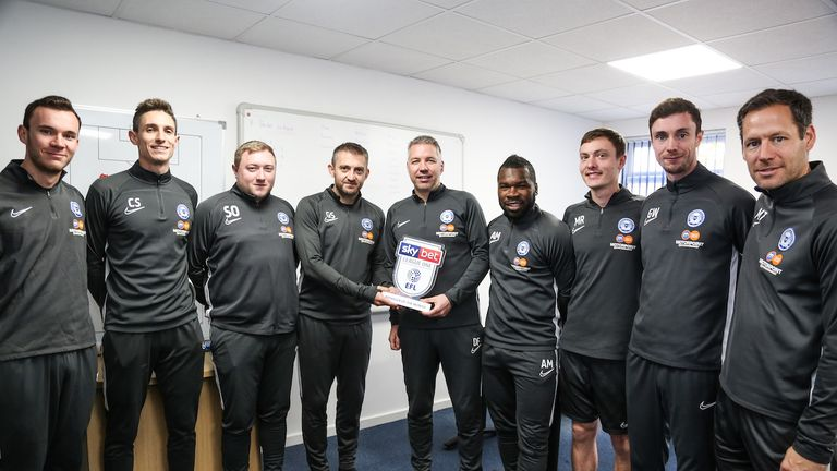 Darren Ferguson won the League One Manager of the Month award for October