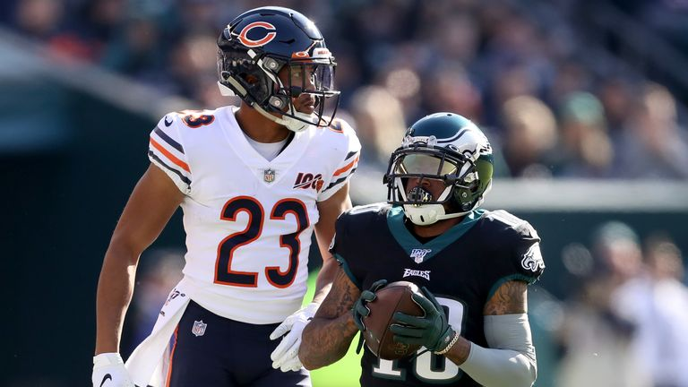 Jackson only played four snaps against the Chicago Bears as a precaution
