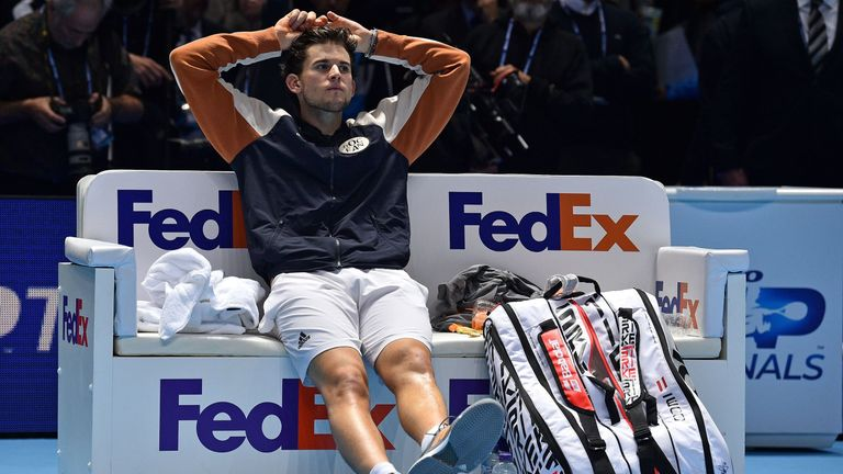 Thiem was crestfallen at the end of the final