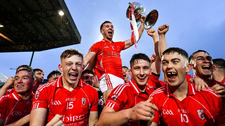 East Kerry players celebrate their victory