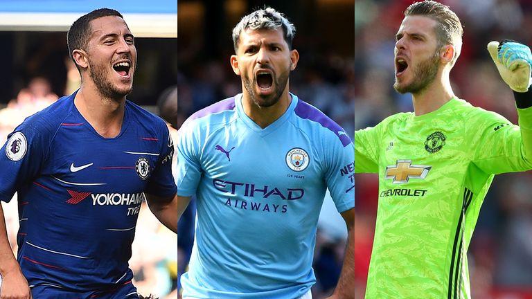 Eden Hazard, Sergio Aguero and David de Gea have been selected by both Jamie Carragher and Gary Neville