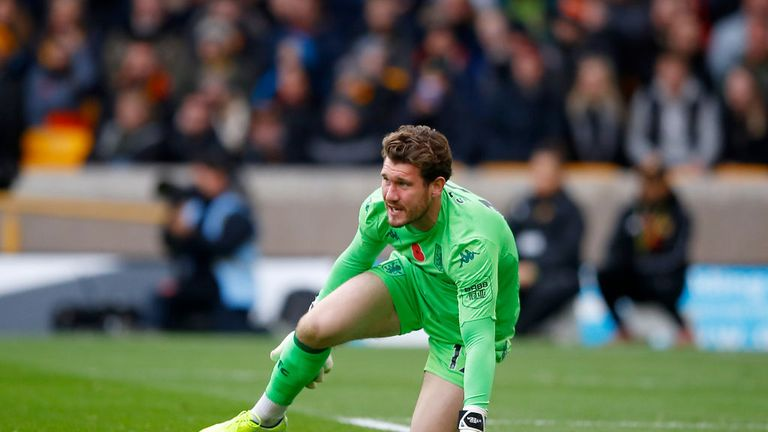 Jed Steer was injured eight minutes into his first Premier League appearance of the season