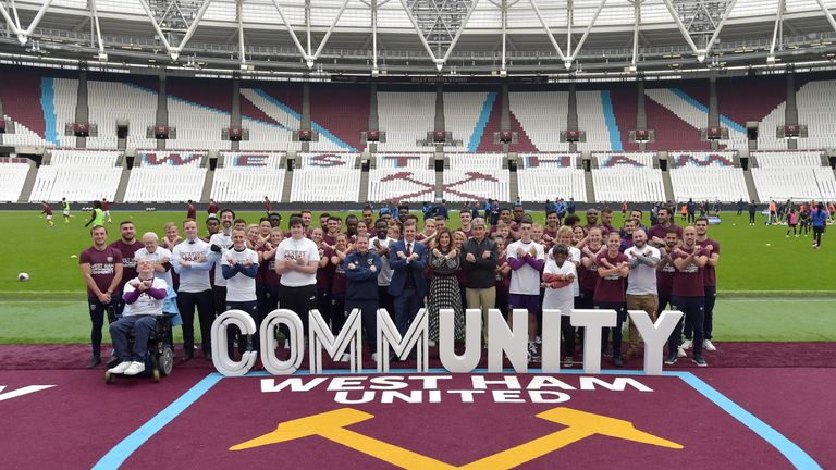 West Ham's Players' Project is celebrating its one-year anniversary. (pic: WHUFC)