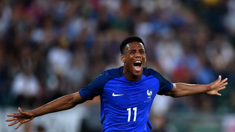 Anthony Martial still has a future with France according to manager Didier Deschamps
