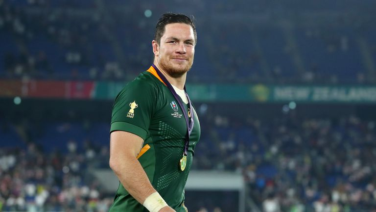 Francois Louw played in South Africa's World Cup win over England this month