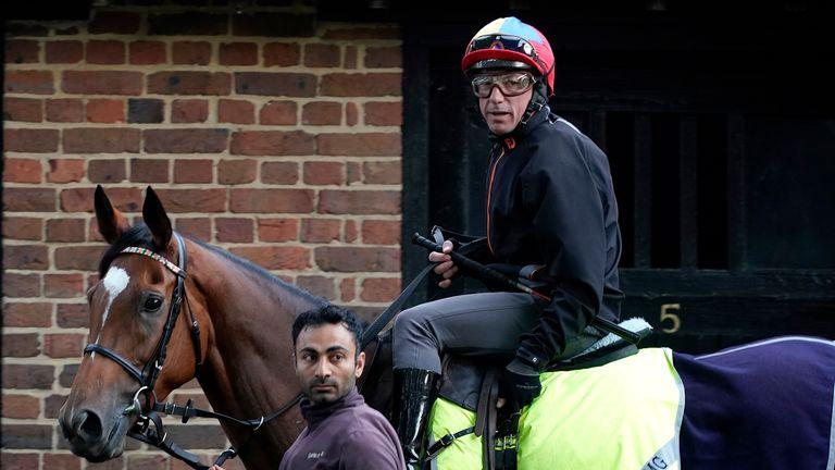 Frankie Dettori pictured at Newmarket Gallops