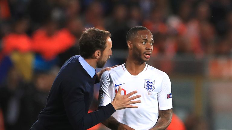 Gareth Southgate will not select Raheem Sterling against Montenegro
