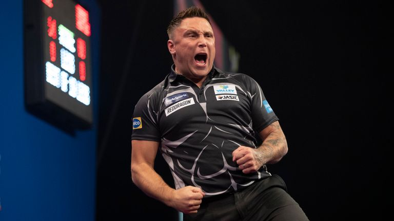 Defending champion Gerwyn Price has booked his place in the last eight of the Grand Slam of Darts - and a showdown with Gary Anderson