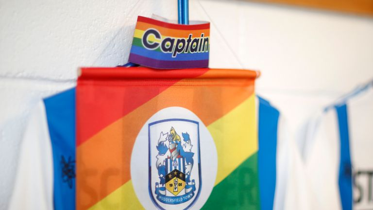 Huddersfield have given great support to the campaign and the club's LGBT fans group, Proud Terriers