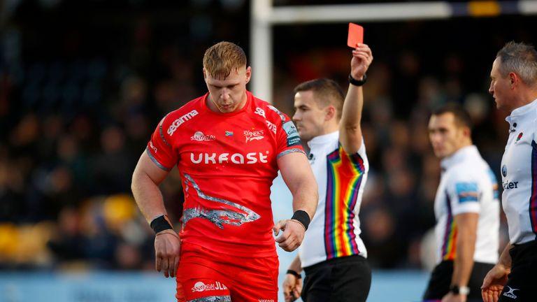 Jean-Luc Du Preez sees red against Worcester