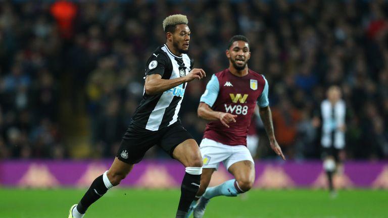 Joelinton failed to score again in the defeat at Aston Villa on Monday