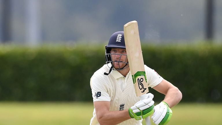 Jos Buttler scored 110 from 153 deliveries in England's drawn warm-up against New Zealand A