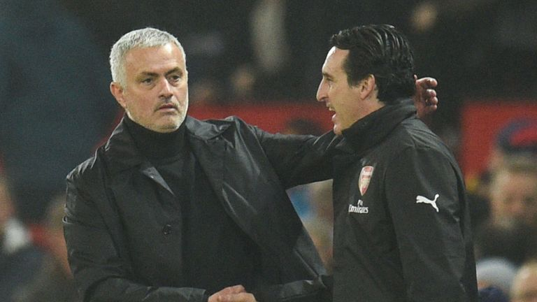 Jose Mourinho has been linked with Arsenal as pressure mounts on current boss Unai Emery