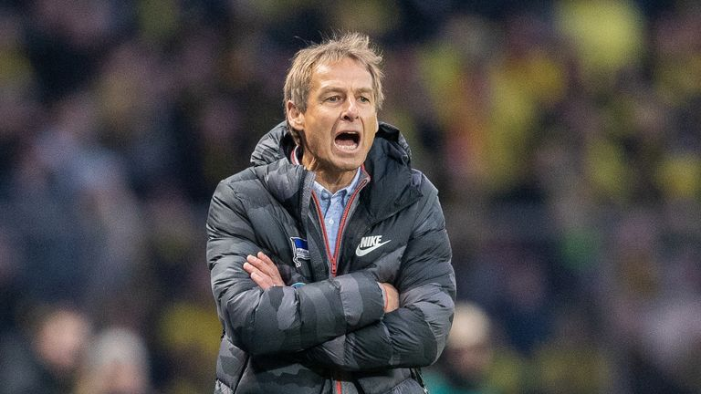 Jurgen Klinsmann lost his first game as Hertha Berlin manager