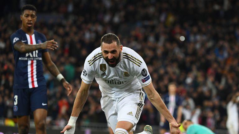 Karim Benzema scored twice to put Real Madrid 2-0 up