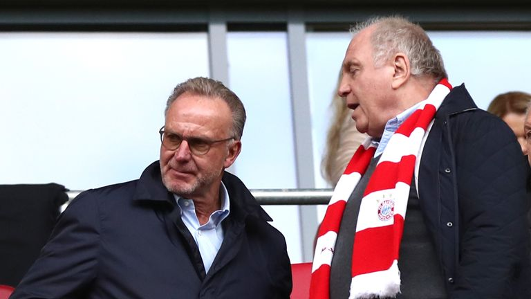 Karl-Heinz Rummenigge (left) and Uli Hoeness (right) were instrumental in the decision to remove Kovac