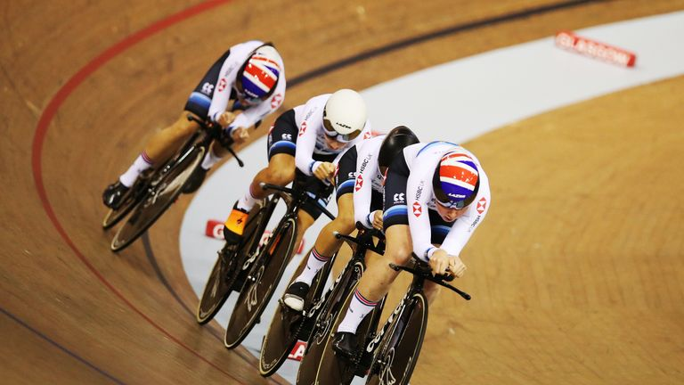 Great Britain's women shone in the team pursuit on Friday night