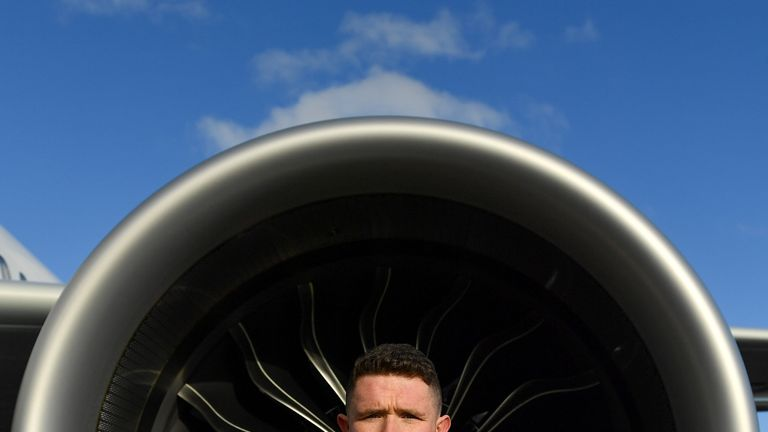 Paul Murphy was speaking at Aer Lingus Hangar 6 at Dublin Airport, ahead of the New York Hurling Classic