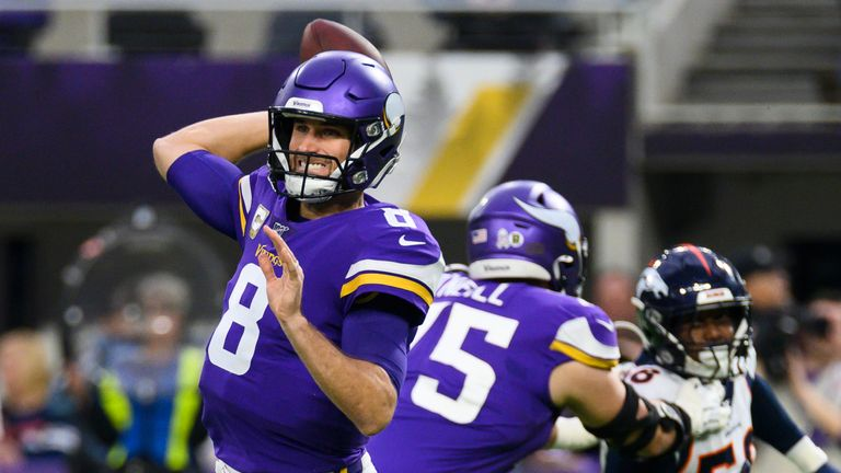 Cousins passed for three touchdowns in the Minnesota Vikings' comeback win over the Denver Broncos