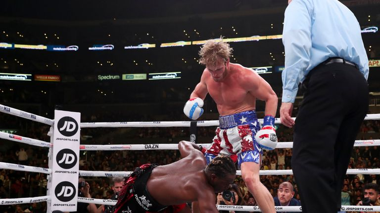 Paul had floored KSI in the fourth round