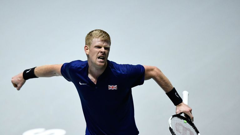 Kyle Edmund won Great Britain's opening rubber on Thursday