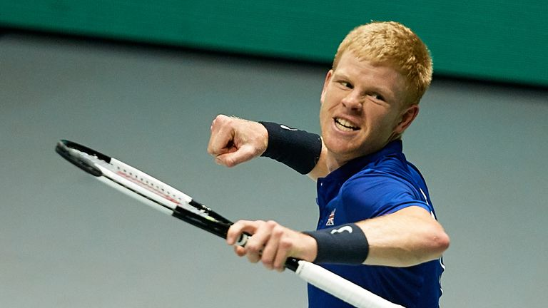 Kyle Edmund gave Great Britain the perfect start to their Davis Cup quarter-final against Germany