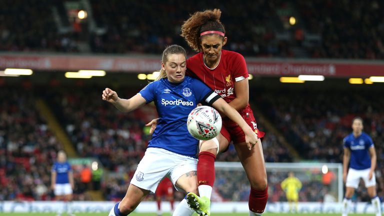 Everton's Lucy Graham secured a 1-0 victory at Anfield in front of 23,500 fans
