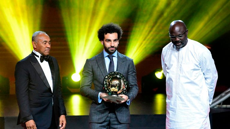 Liverpool's Mohamed Salah will be looking to win the African Player of the Year title for a third successive time