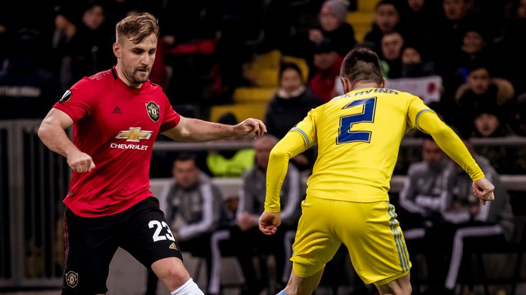 Luke Shaw played the full 90 minutes against Astana on Thursday