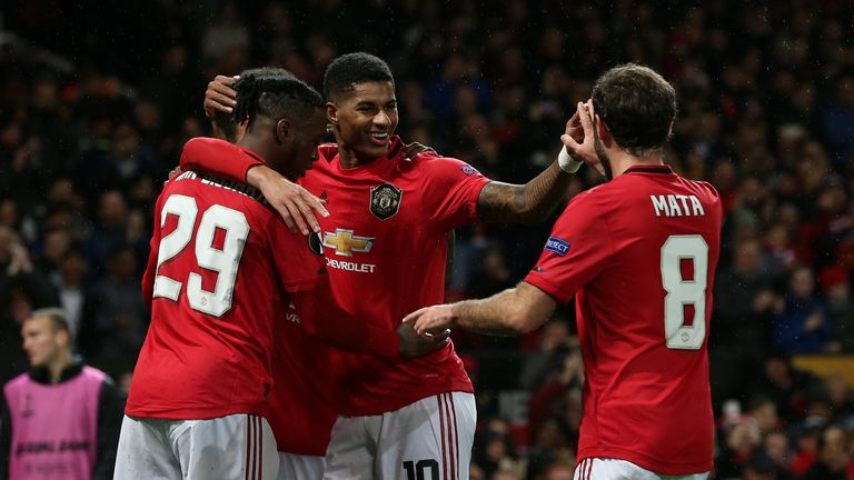 Manchester United eased the knockout stages