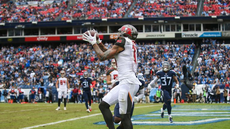 Mike Evans has 32 catches, 474 yards and three touchdowns in his last three games for the Bucs