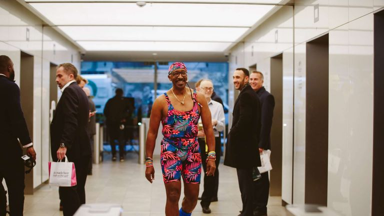 Employees at Aviva HQ in London were stunned to see Mr. Motivator in the building!