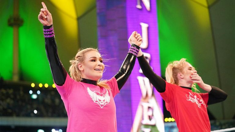 Natalya made history in Saudi Arabia as part of WWE's first women's match in the country
