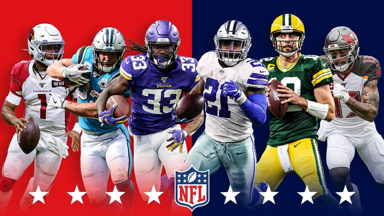 Sunday features MVP candidates and former No 1 overall picks with the Cardinals at Buccaneers, Panthers at Packers and Vikings at Cowboys